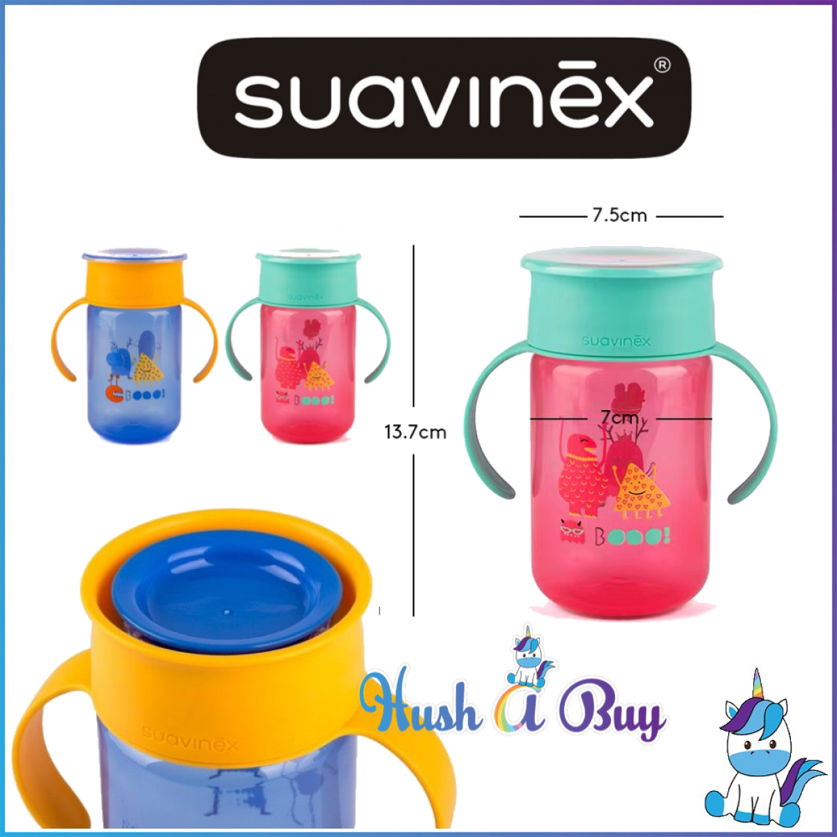 Suavinex 360 Trainer Cup 340ml +12m - BLUE/RED