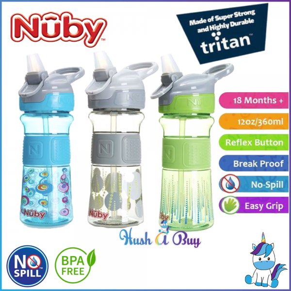 Nuby Thirsty Kid Drinking Bottle Flip-it REFLEX 12oz/360ml