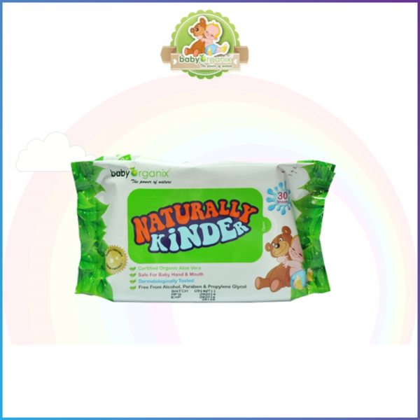 Baby Organix Naturally Kinder Wet Tissue With Aloe Vera - 30s
