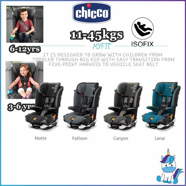 Chicco MyFit Harness + Booster Car Seat Combination Car Seat - ISOFIX (11kg-45kg) 3-12 years