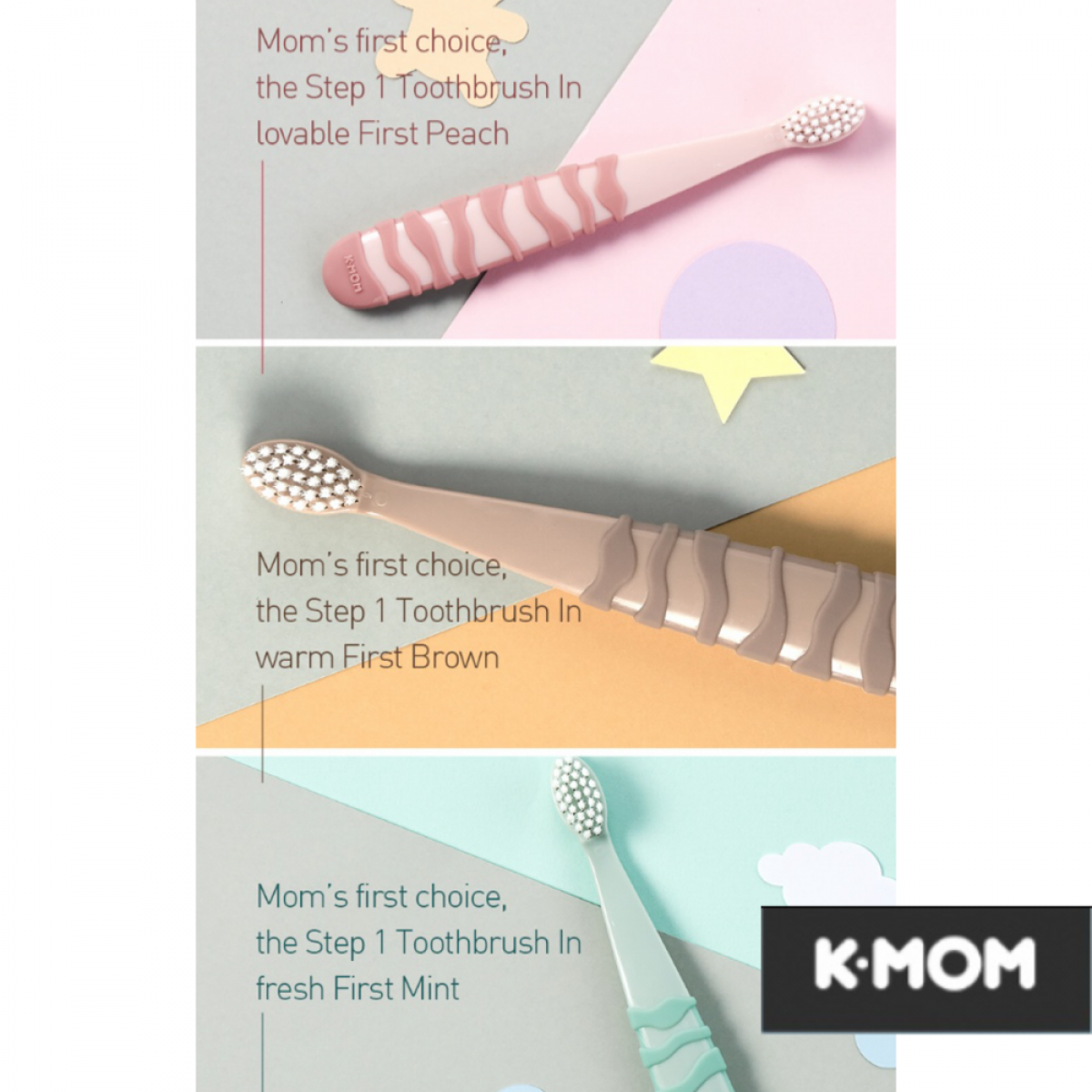 K-MOM Kids Toothbrush Step 1 (6-36 months)