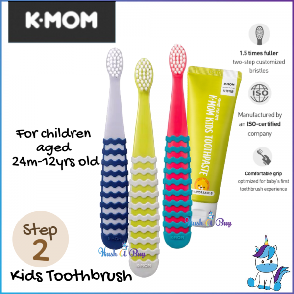 K-MOM Kids Toothbrush Step 2 (24 months-12 years)