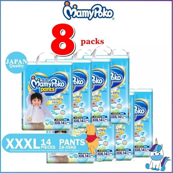 MamyPoko Extra Dry Skin PANTS XXXL14 Boy - 8 Packs