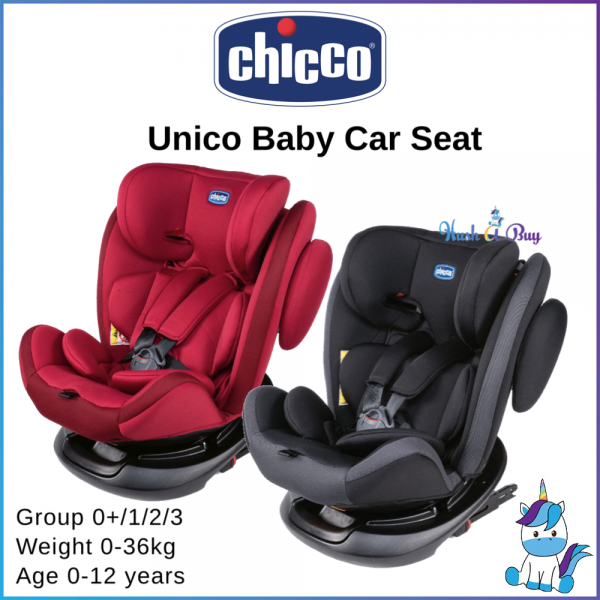 FREE SHIPPING TO WM - Chicco Unico Baby Car Seat 0-12 yrs (0-36kgs) with ISOFIX 360 Spin