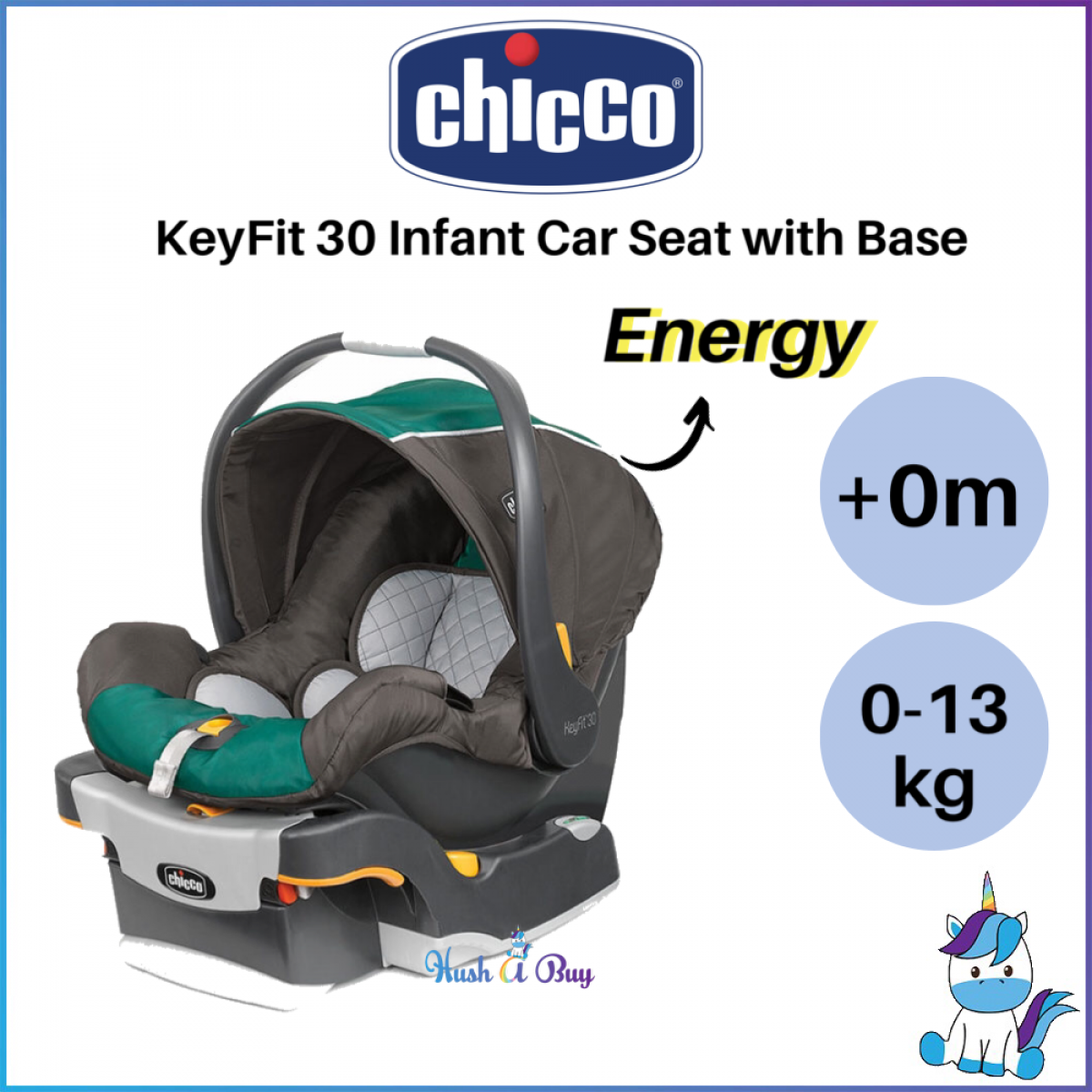 Baby Chicco KeyFit 30 Infant Car Seat Eucalyptus Car Seats ...