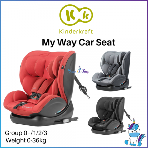 FREE SHIPPING TO WM - Kinderkraft My Way Car Seat Group 0+/1/2/3 (0-36kg) RWF 0-18kg