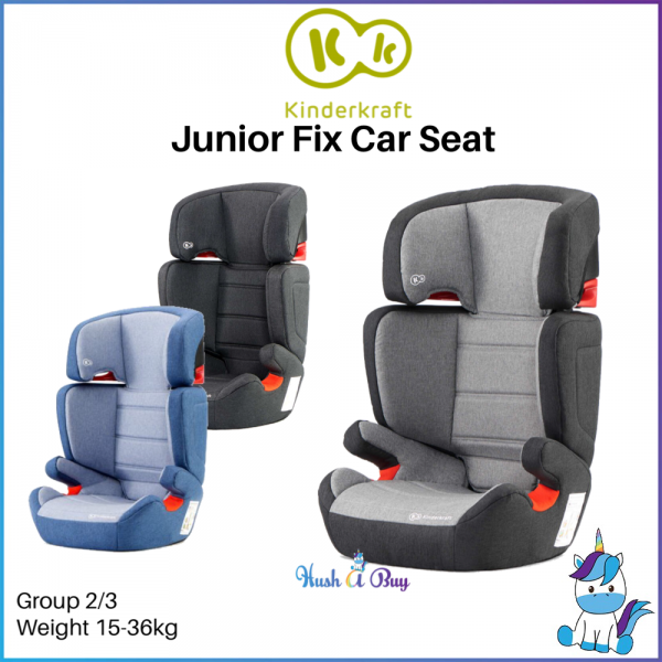 FREE SHIPPING TO WM - Kinderkraft Junior Fix Booster Car Seat with ISOFIX Group 2/3 (15-36kg)