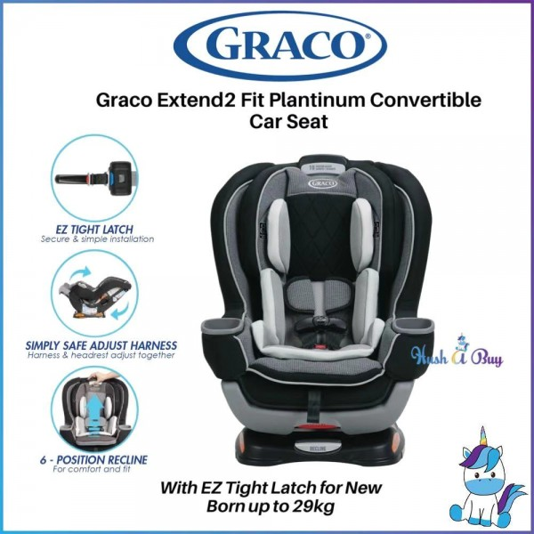 FREE SHIPPING TO WM - Graco Extend2Fit Platinum Convertible Car Seat with EZ Tight Latch (1.8kg ~ 30kg)CARLEN