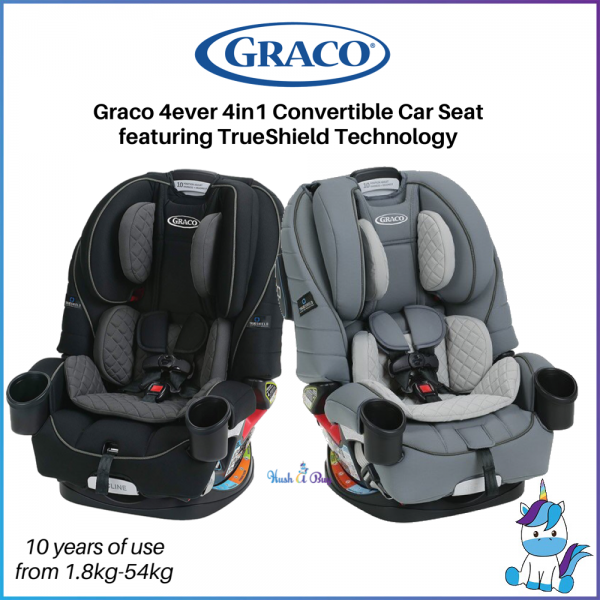 FREE SHIPPING TO WM - Graco 4ever 4IN1 Car Seat featuring TrueShield Technology