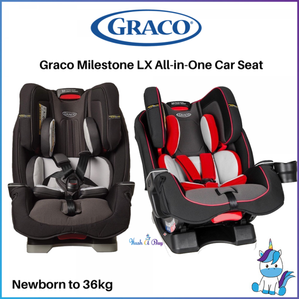 FREE SHIPPIN TO WM: Graco Milestone LX All-in-One Convertible Car Seat - GREY