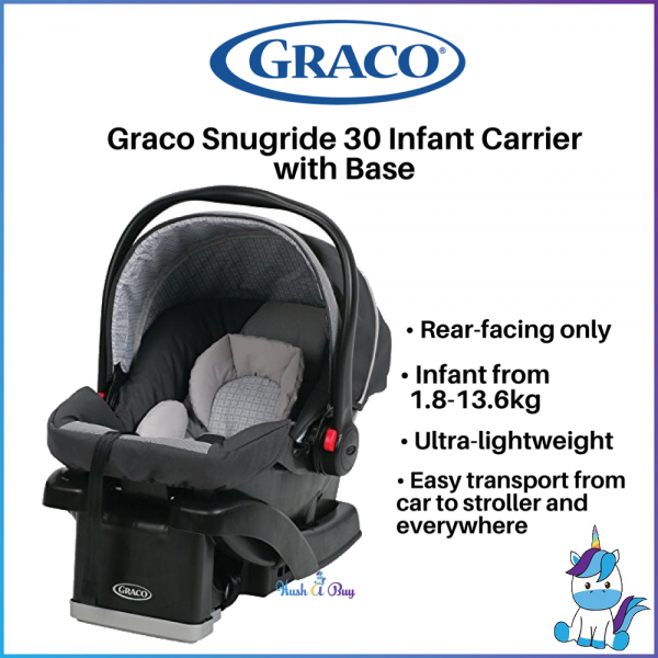 Graco Snugride Click Connect 30 Infant Car Seat with base-GLACIER