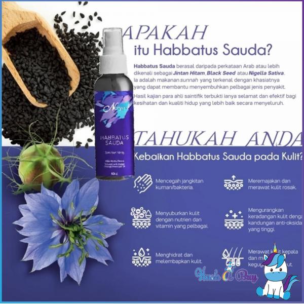 Nutrimetics Nuryn Habbatus Sauda Sanitiser Spray 50ml - Mesra Muslim