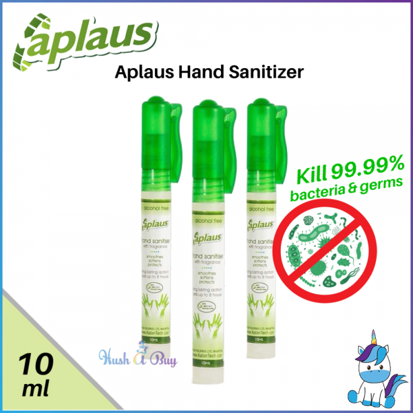 Aplaus Hand Sanitiser Pocket Size Kill 99.99% Bacteria and Germs 10ml - Made in USA