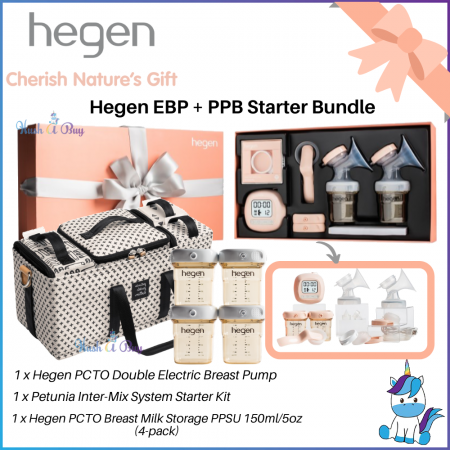 Hegen Double Electric Breastpump EBP + PPB Starter Bundle