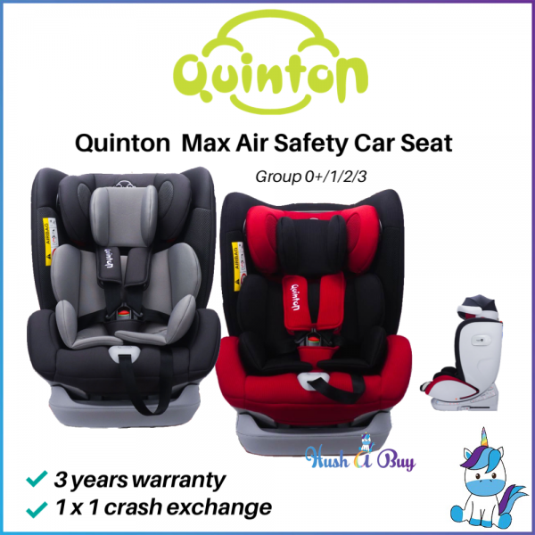 Quinton Max Air Safety Car Seat -Red / Grey 3 Years Warranty with 1x1 Exchange