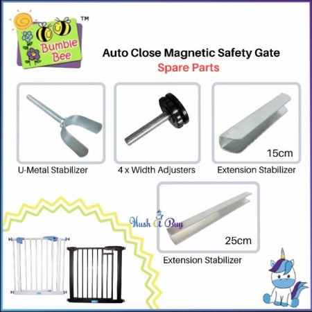 Bumble Bee Baby Safety Gate Spare Part (U-Metal Stabilizer, Extension, Width Adjuster, Screw)