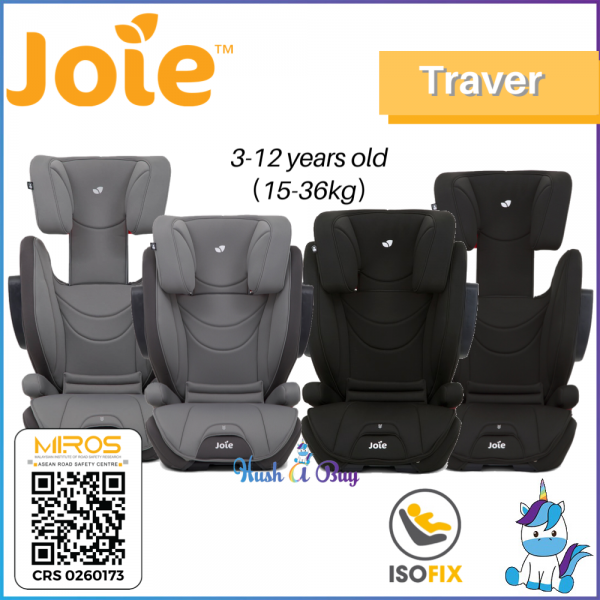 Joie Traver Booster Car Seat Group 1/2/3 ISOSAFE From 9-36KG - 4 Years and above - 1 Year Warranty by JOIE MALAYSIA