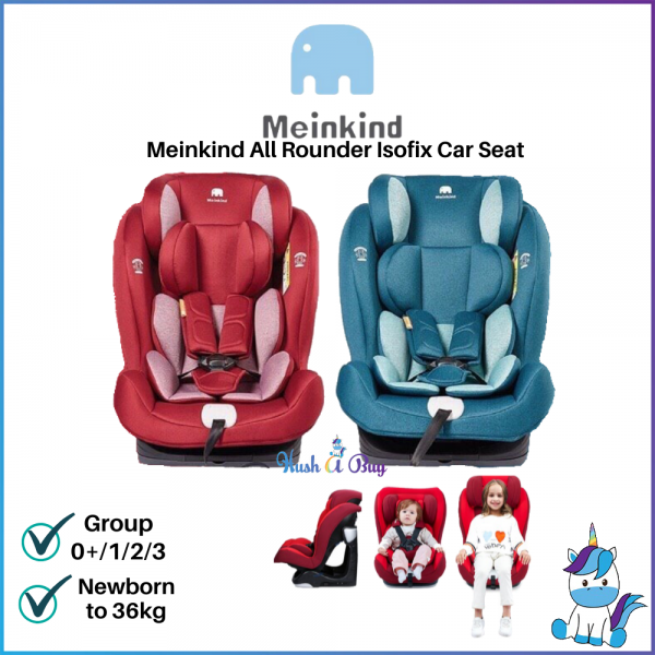 Meinkind All Rounder Isofix Booster Seat Dark Green / Wine Red - ECE R44/04 Approved - 9kg to 36kg