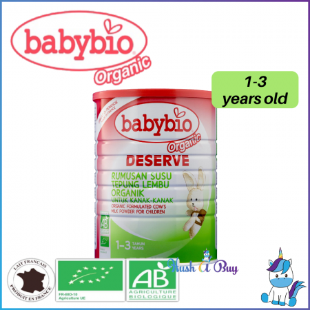 Babybio Deserve Formulated Cow Milk for Children 1 – 3 years 900g
