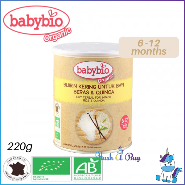 Babybio Organic Dry Cereal for Infant (Rice & Quinoa) 6-12months 220g