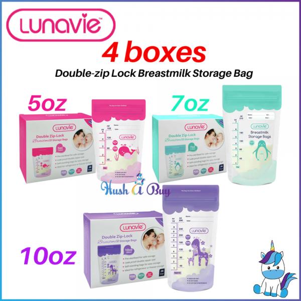 4 BOXES Lunavie Breast Milk Storage Bag 28pcs -5oz / 7oz / 10oz