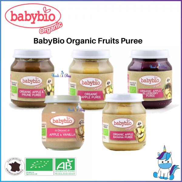 Babybio Organic Puree 130g //Apple &Prune // Apple // Apple & Blueberry// - Product of France