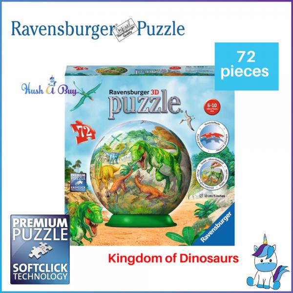 Ravensburger 3D Puzzle 72 Pcs - Kingdom of the Dinosaurs