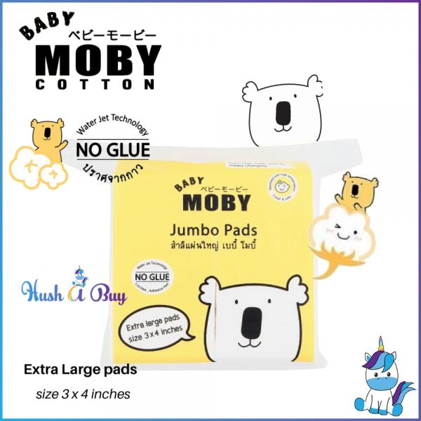 Baby Moby Jumbo Cotton Pads in Zipper Bag