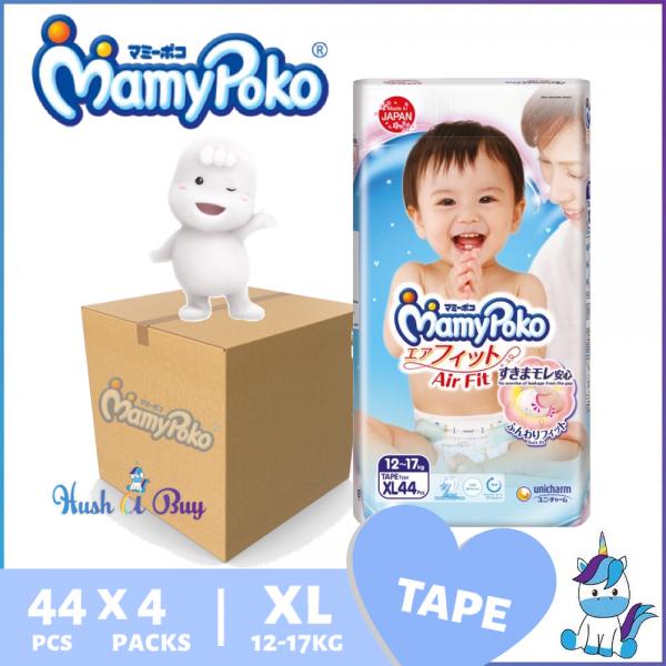 1 Ctn (4 packs) Mamypoko Air Fit Tape XL44 (12 to 17kg)