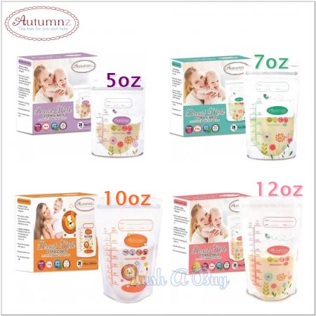 Autumnz Double ZipLock Breastmilk Storage Bag (28 Bags)
