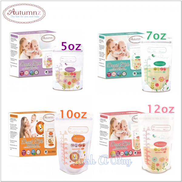 Autumnz Double ZipLock Breastmilk Storage Bag (28 Bags)