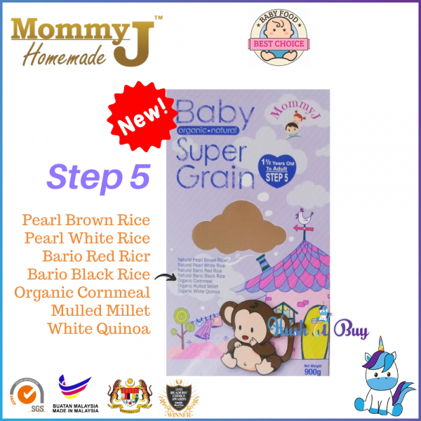MommyJ Baby Organic Natural Super Grain Step 5 - New Packaging