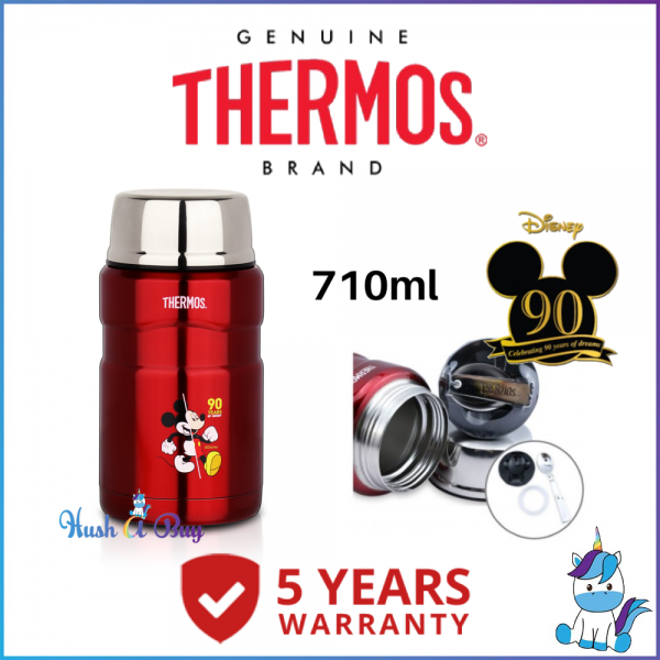 Thermos Mickey Stainless Steel King Food Jar 710ML (FREE Stainlessteel Foldable Spoon) 5 Years Warranty - 100% Authentic and Original