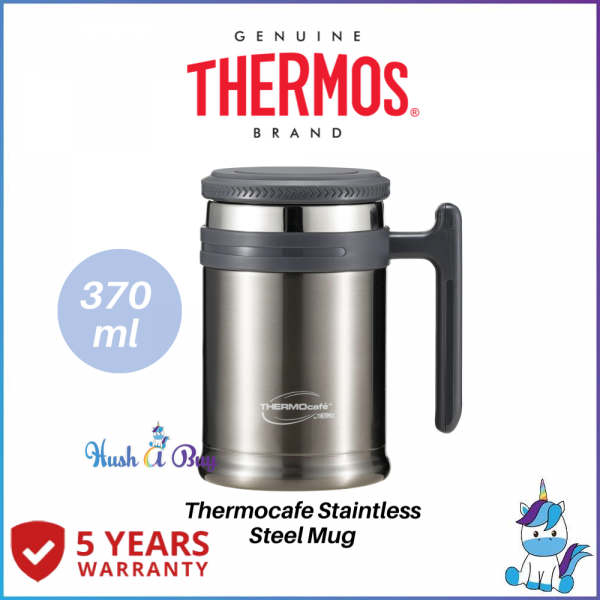 Thermos Thermocafe 0.37L Vacuum Insulated Stainless Steel Desktop Mug