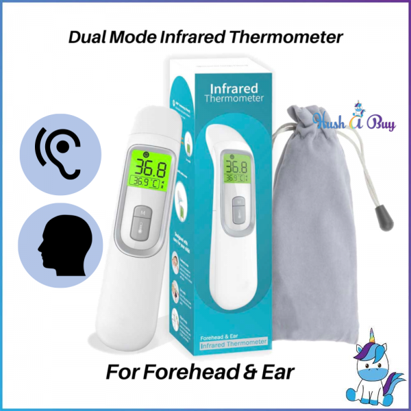 Dual Mode Infrared Thermometer for Ear and Forehead - 1 Year Warranty
