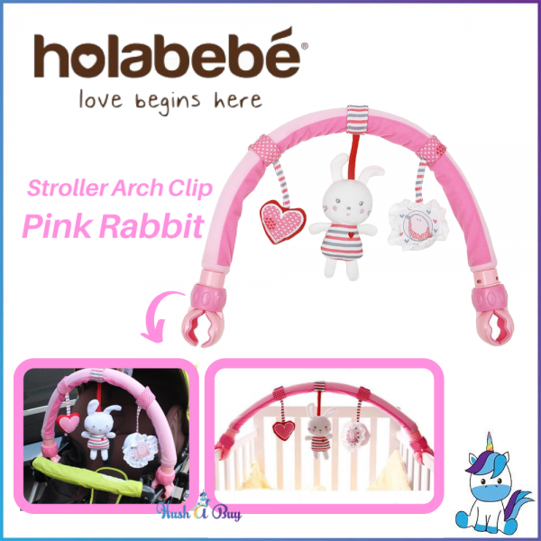 Holabebe Stroller Accessories Arch - Hanging Toys - PINK RABBIT