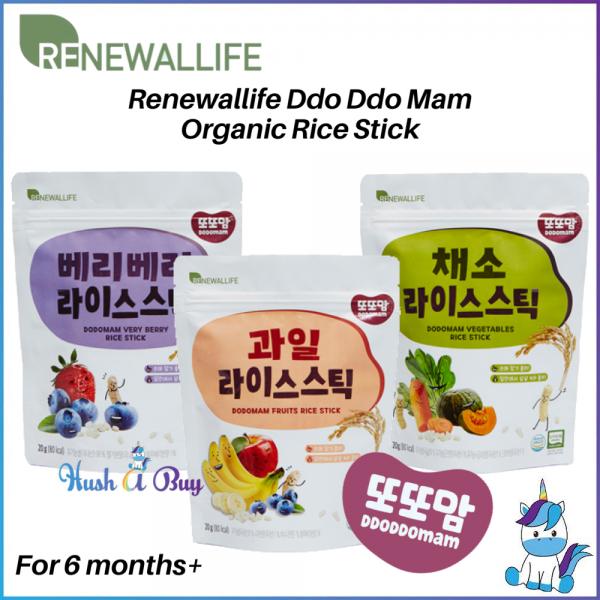 Korea RENEWALLIFE DDODDOMAM Organic Rice Stick (Sugar Free) For 6 months+