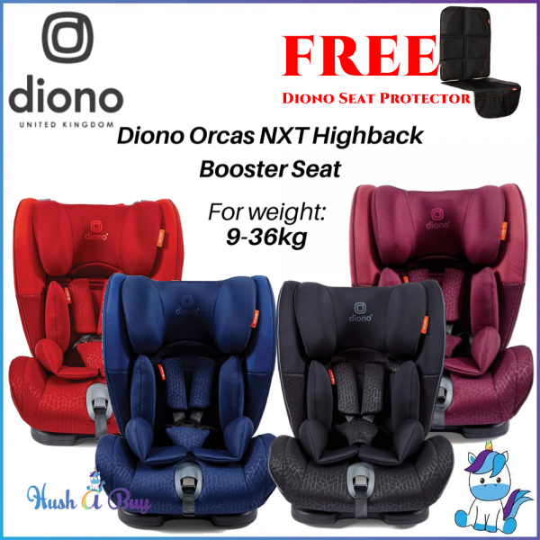 Diono Orcas Nxt Baby Car Seat for 9 Months - 12 Years (Group 1/2/3 - 9kg-36kg) [Free Gift]