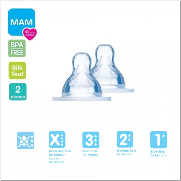 MAM Replacement Silk Teat (5 Sizes Available)