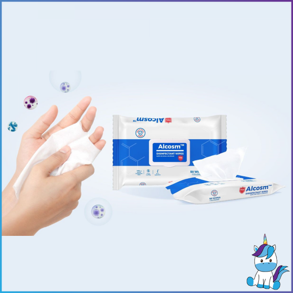 Alcosm 75% Alcohol Wipes with Cap 50pcs
