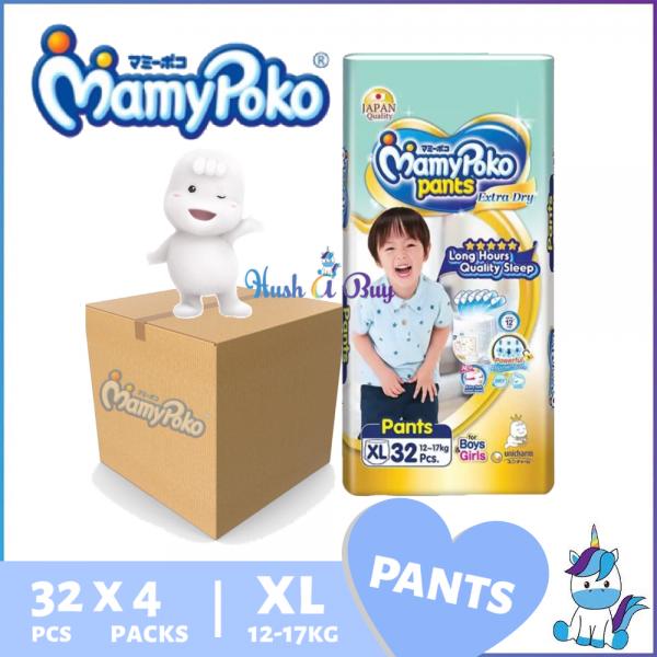 1 CTN (4 packs) Mamypoko Extra Dry JUMBO PACK XL32 - Japan Quality