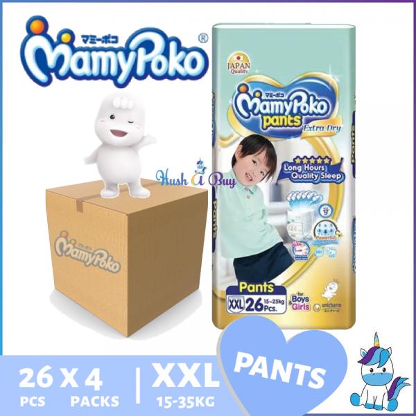 1 CTN (4 packs) Mamypoko Extra Dry JUMBO PACK  XXL26