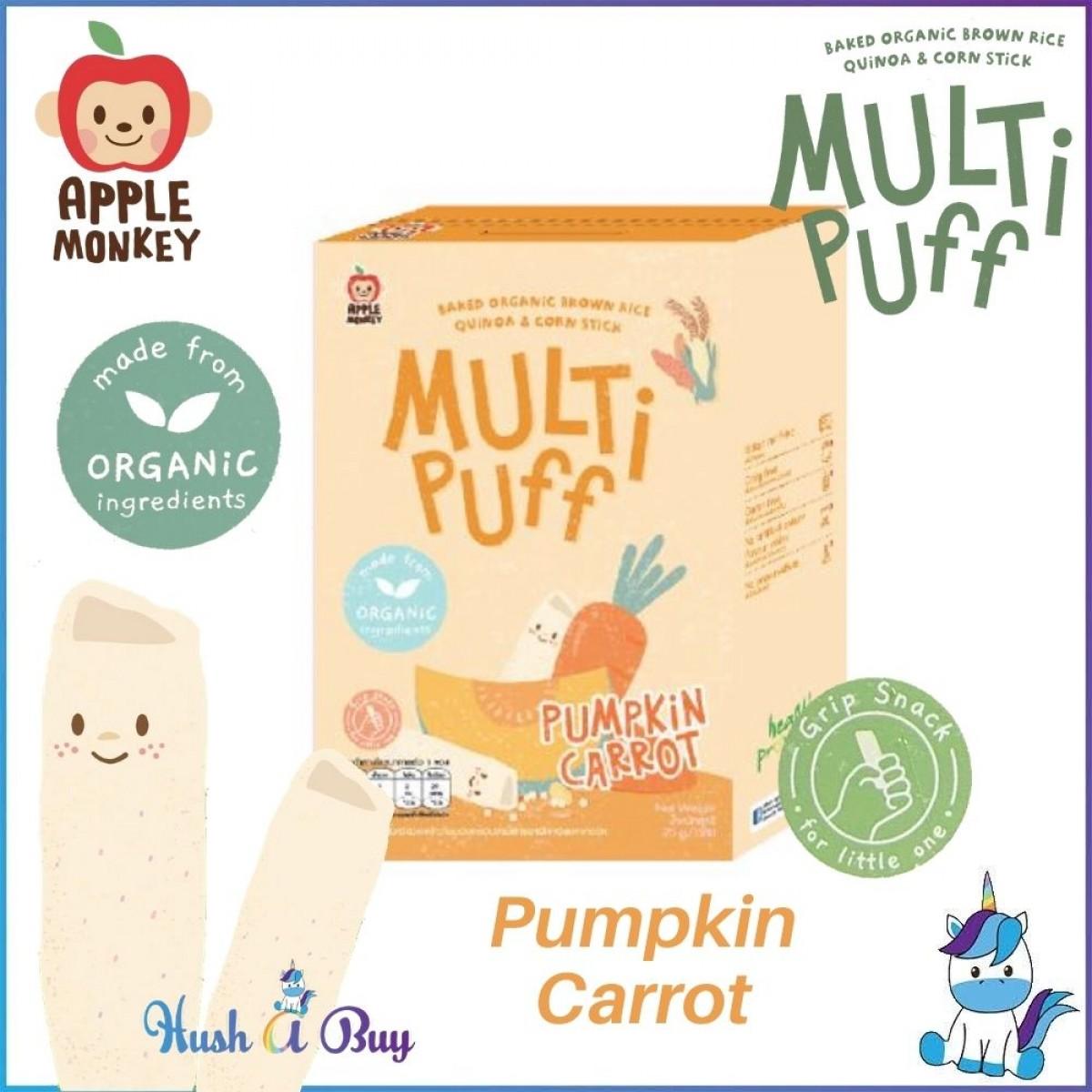 Apple Monkey Organic Multi Puff 25g - Apple Broccoli / Mixed Berry / Pumpkin Carrot *New*