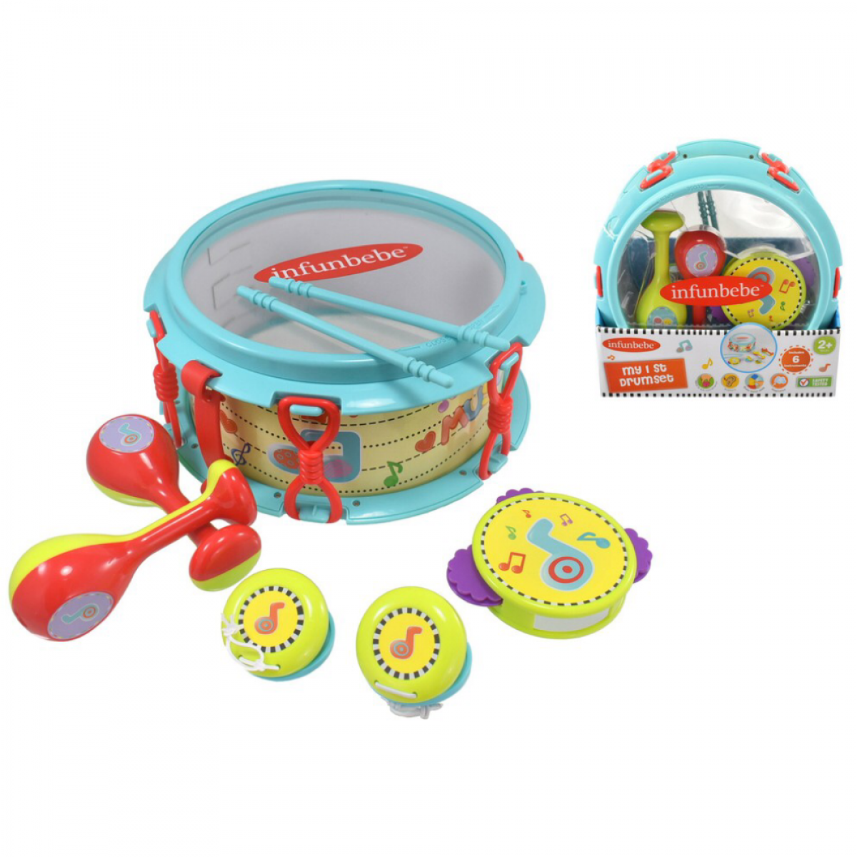 Infunbebe My 1st Drumset (6 Instruments) - 2 Years +