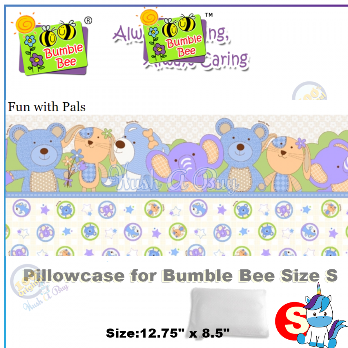 Bumble Bee Pillocase for Size S