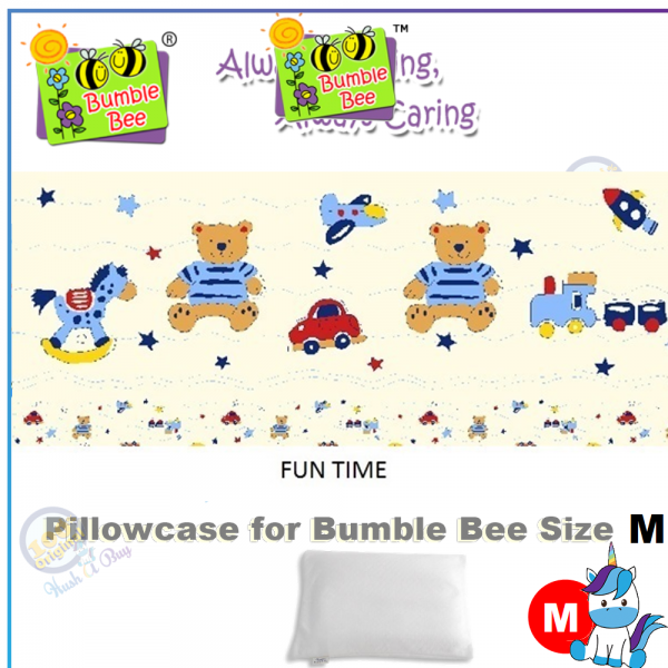 "Bumble Bee Pillow Size M (12""x 16"")"