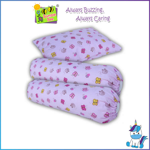 Bumble Bee Infant Pillow & Bolster Set -  Spring Blossom Time (KNIT))