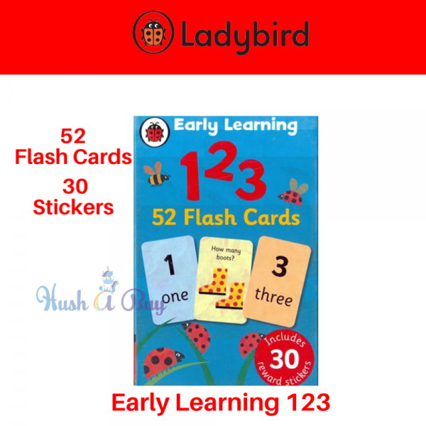 Ladybird Early Learning 123 (52 Flash Cards With Stickers)