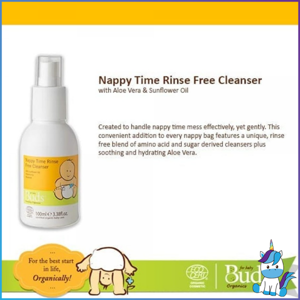 Buds Everyday Organic Nappy Time Rinse-Free Cleanser 100ml
