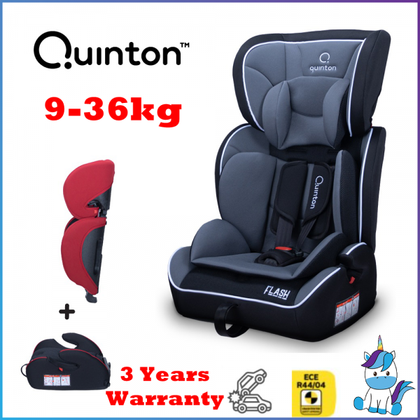Quinton Flash Booster Seat with 5 Points Harness 9-36kg - 3 Years Warranty